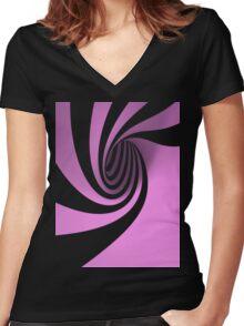 Purple Swirl Women's Fitted V-Neck T-Shirt