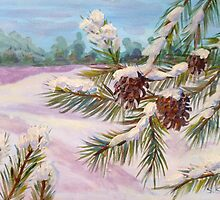 Snow pines by Saga Sabin