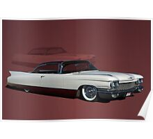 1960 Cadillac Coupe DeVille Low Rider Poster