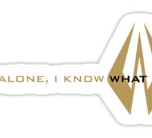 Kimi Raikkonen - I Know What I'm Doing! - Lotus Gold Sticker