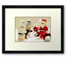 Santa's little troopers Framed Print