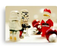 Santa's little troopers Canvas Print