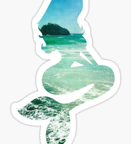 Mermaid ocean beach boho cool trendy pretty design Sticker