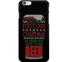 Beer Christmas Sweater iPhone Case/Skin