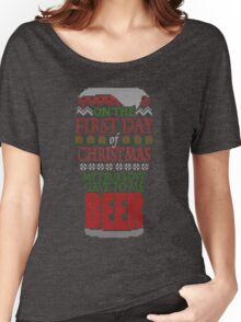 Beer Christmas Sweater Women's Relaxed Fit T-Shirt