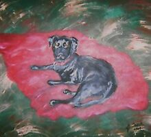 Loving Black Labrador by Jennifer Ingram