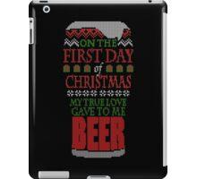 Beer Christmas Sweater iPad Case/Skin