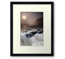 the sea, the mist, the stoneboat #2 Framed Print