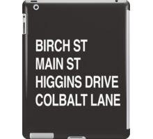 Birch St Main St, Higgins Drive Colbalt Lane iPad Case/Skin