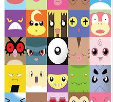 Pokemon Faces- Gotta name them all! by ThatGingerSheep