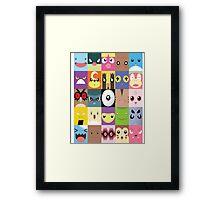 Pokemon Faces- Gotta name them all! Framed Print