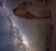 The night sky at Delicate Arch iPad Case by Wojciech Dabrowski