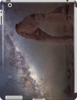 The night sky at Delicate Arch iPad Case by Wojciech Dabrowski