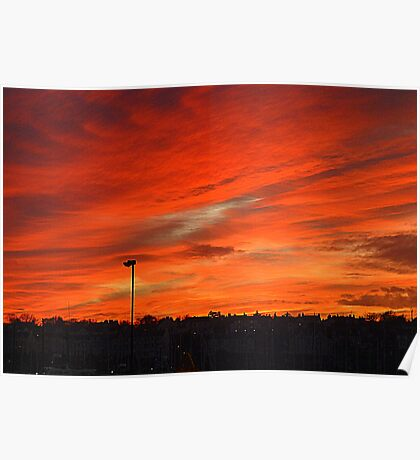 Bangor Skyline At Sunset Poster