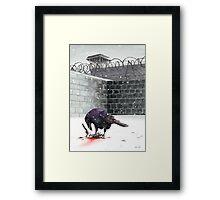 Crow, Bloody Snow Framed Print