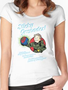 Sticky Grenades! Women's Fitted Scoop T-Shirt