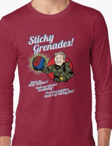 Sticky Grenades! Long Sleeve T-Shirt