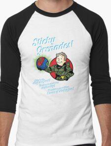 Sticky Grenades! Men's Baseball ¾ T-Shirt