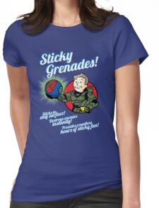 Sticky Grenades! Womens Fitted T-Shirt