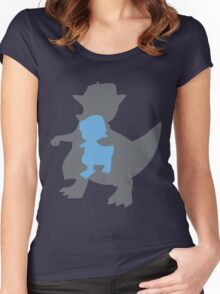 PKMN Silhouette - Cranidos Family Women's Fitted Scoop T-Shirt
