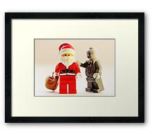 A zombie Christmas Framed Print