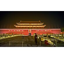 """The entrance of the """"Forbidden city"""" Photographic Print"""