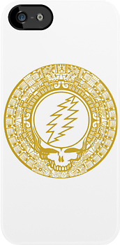 2012 Mayan Steal Your Face - GOLD by Jessica Bone
