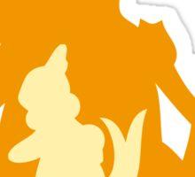 PKMN Silhouette - Buizel Family Sticker