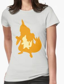PKMN Silhouette - Buizel Family Womens Fitted T-Shirt