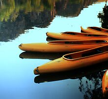 Gorge reflections and kayaks by myraj