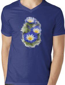 Morning Glory Watercolor Mens V-Neck T-Shirt