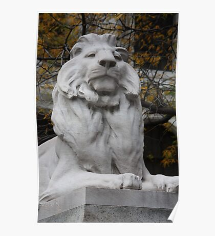 fortitude lion statue Poster