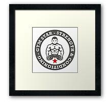 Gym Star - Strength & Conditioning Framed Print
