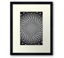 Eight-Ball Spiral Vortex Pattern Framed Print