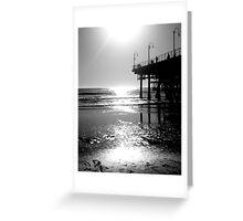 Black White & Sea Greeting Card