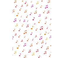 Musical Notes Pattern Photographic Print