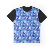 Polarstarz Blue Pattern Graphic T-Shirt