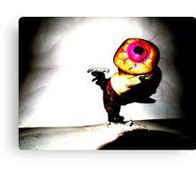 Eyeball Boy Goes Ice Skating Canvas Print