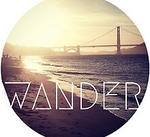 San Francisco Wander Beach Travel Awesome Ocean Good Vibes Tumblr Print by Big Kidult