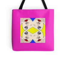 Visage pattern Tote Bag