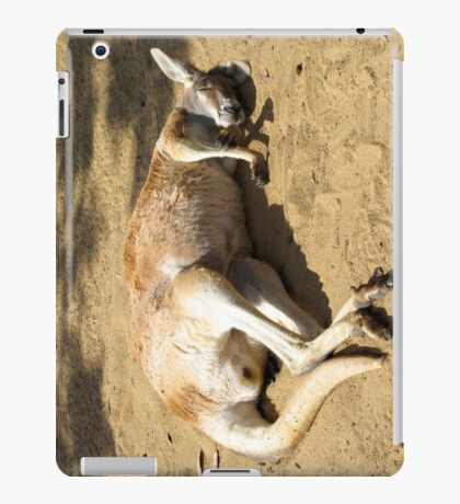 Sleepy Australian Kangaroo for iPad iPad Case/Skin