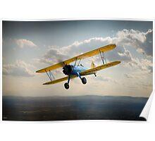 Boeing Stearman in flight Poster