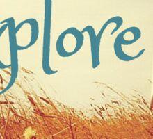 Lighthouse Boho Beach Ocean Typography Travel Explore Print Sticker
