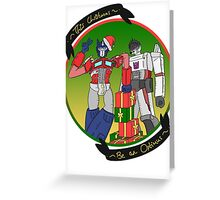 Transformers Christmas Greeting Card