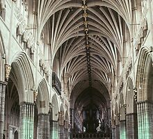 Nave Exeter Cathedral 198101140004 by Fred Mitchell