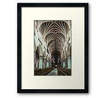 Nave Exeter Cathedral 198101140004 Framed Print