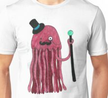 Mr Stinger the Gentleman Jellyfish in red Unisex T-Shirt