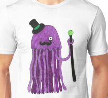 Mr Stinger the Gentleman Jellyfish in pink Unisex T-Shirt