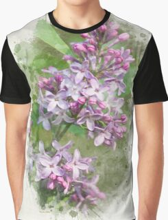 Lilac Watercolor Art Graphic T-Shirt