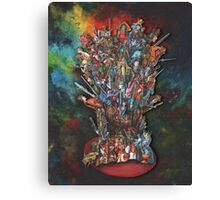 The Tarot Throne Canvas Print